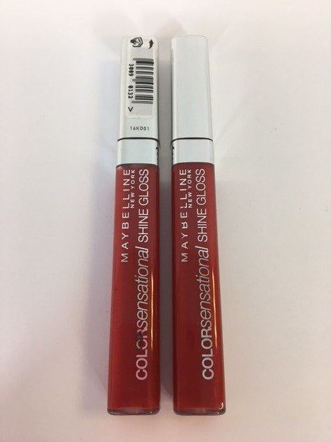 Maybelline Color Sensational Shine Lip Gloss, 550 Gleaming Grenadine x 6 (£0.80 each) - Fizzy Peach Ltd