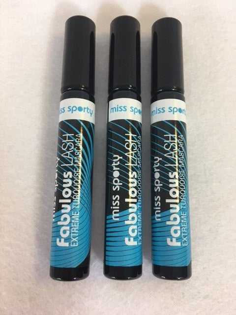 Miss Sporty Fabulous Lash Mascara, 002 Extreme Turquoise x 6 (£0.55 each) - Fizzy Peach Ltd