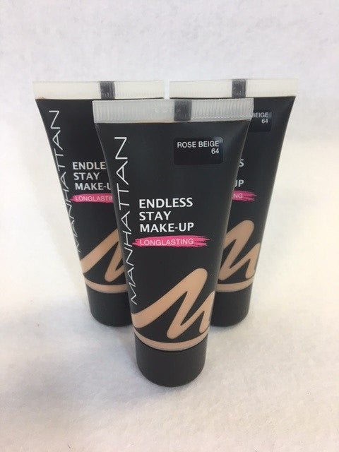 Manhattan Endless Stay Make-Up Foundation, 64 Rose Beige x 6 (£1.00 each) - Fizzy Peach Ltd