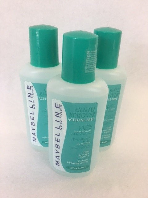 Maybelline Gentle Nail Polish Remover, Weak Nails x 6 (£1.50 each) - Fizzy Peach Ltd