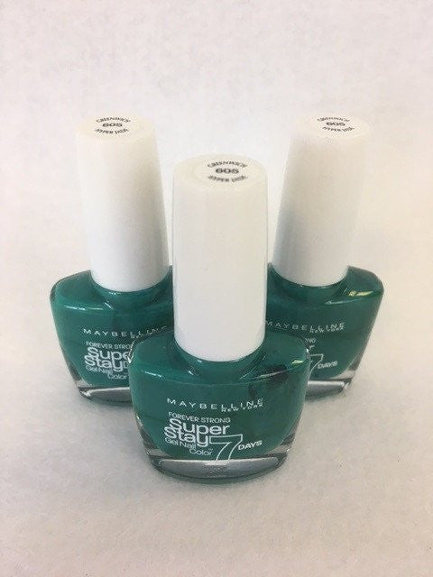 Maybelline Superstay 7 Days Gel Nail Colour, 605 Greenwich Hyper Jade x 6 (£0.50 each)