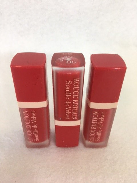 Bourjois Rouge Edition Souffle De Velvet Lipstick, 06 Cherry Leaders x 6 (£2.25 each) - fizzypeach