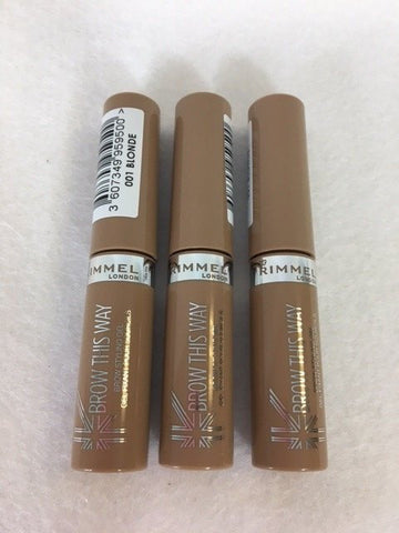 Rimmel Brow This Way Brow Styling Gel, 001 Blonde x 6 (£1.50 each)
