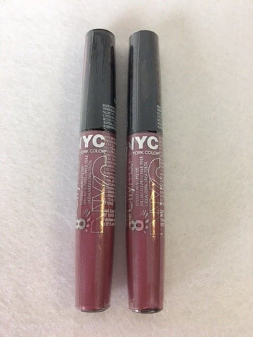 NYC City Proof Extended Wear Lip Gloss, 458 Mauving All Night x 6 (£0.60 each)