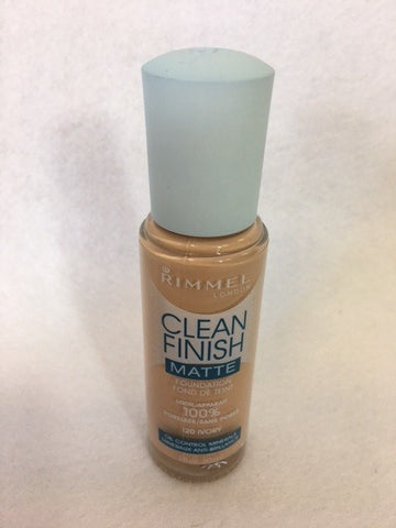 Rimmel Clean Finish Matte Foundation, 120 Ivory x 6 (£2.70 each)