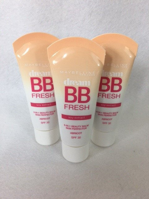Maybelline Dream BB Fresh 8-in-1 Beauty Balm, Universal Glow (Apricot) x 6 (£2.50 each)
