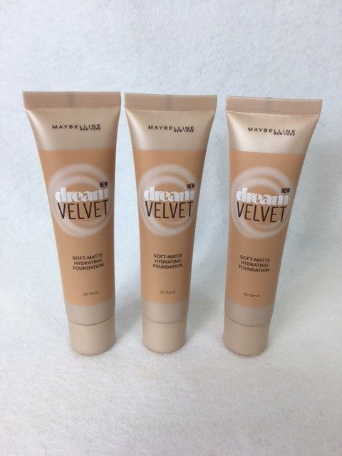 Maybelline Dream Velvet Foundation, 30 Sand x 6 (£2.70 each) - fizzypeach