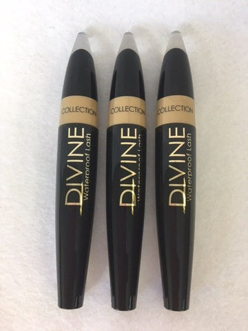 COLLECTION 2000 Divine Lash Waterproof Mascara, 17 Ultra Black x 6 (£0.90 each)
