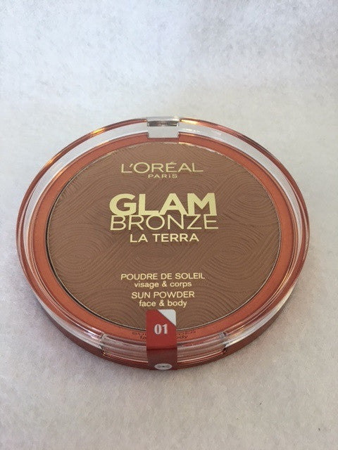 L'oreal Glam Bronze La Terra Sun Powder, Face and Body, 01 Portofino Leggero x 6 (£2.40 each) - fizzypeach