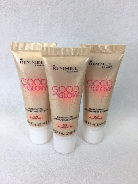 Rimmel Good to Glow Highlighter Illuminator, 002 Piccadilly Glow x 6 (£1.50 each) - fizzypeach