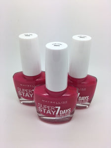Maybelline Superstay 7 Days Gel Nail Colour, 885 Pink Goes x 6 (£0.50 each)