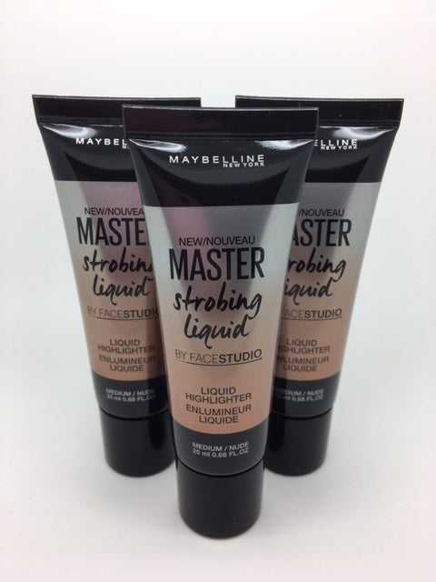 *Clearance* Maybelline Master Strobing Liquid Highlighter, Medium / Nude x 48 (£1.20 each)