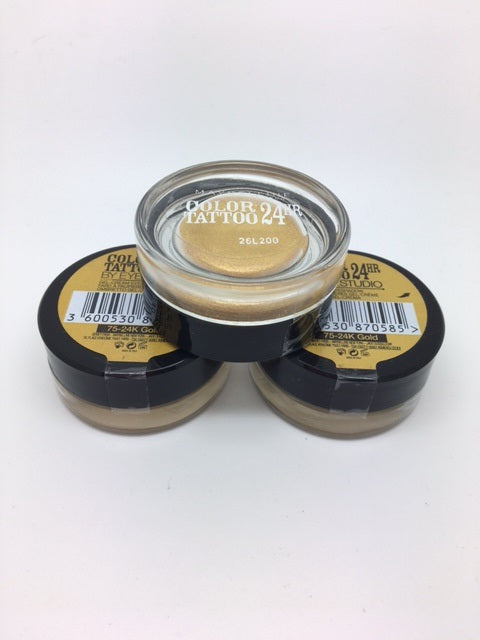 Maybelline 24H Color Tattoo Eyeshadow, 24K Gold x 6 (£1.50 each)