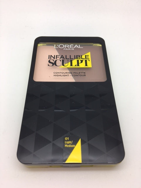 *Clearance* L'oreal Infallible Sculpt Contouring Palette, 01 Light / Medium x 48 (£1.65 each)