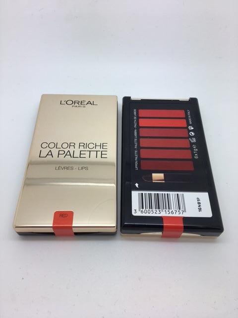 L'oreal Color Riche La Palette Lips, Rouge x 6 (£1.80 each)