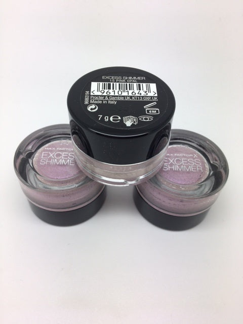 Max Factor Excess Shimmer Eyeshadow, 15 Pink Opal x 6 (£1.00 each)
