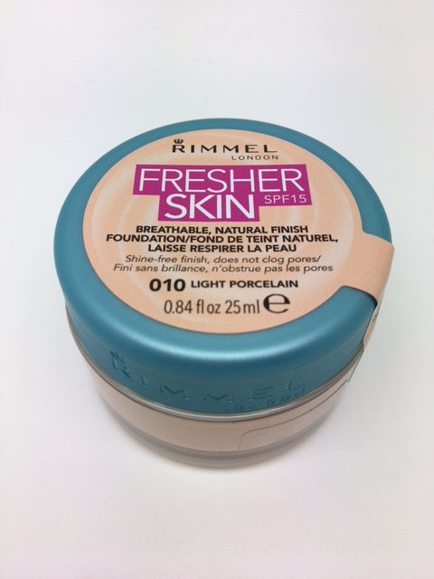 Rimmel Fresher Skin Foundation, 010 Light Porcelain x 6 (£2.50 each)
