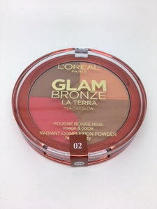 L'oreal Glam Bronze La Terra Healthy Glow Bronzer, 02 Medium Speranza x 6 (£1.95 each)