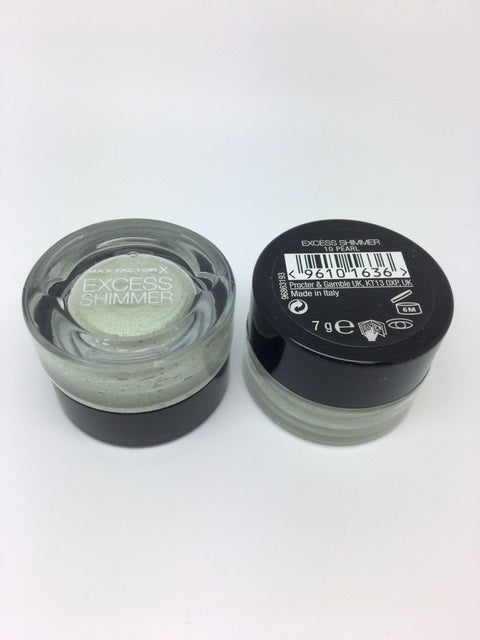 Max Factor Excess Shimmer Eyeshadow, 10 Pearl x 6 (£1.00 each)