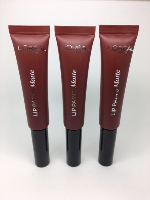 L'oreal Lip Paint Matte, 213 Stripped Brown x 6 (£1.20 each)