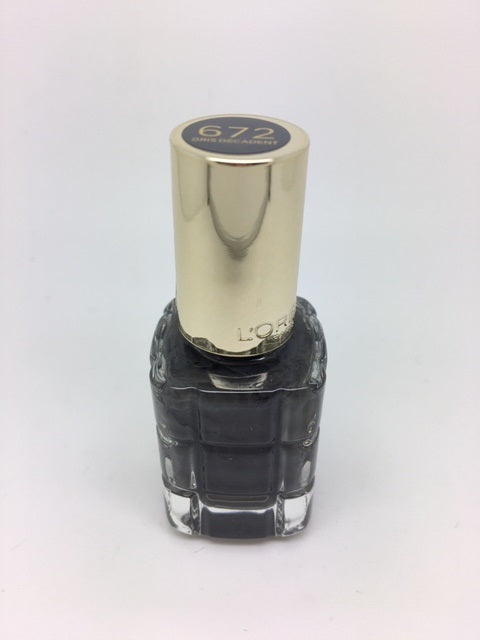 *Clearance* L'oreal Color Riche Nail Polish A L'Huile, 672 Gris Decadent x 48 (£0.40 each)