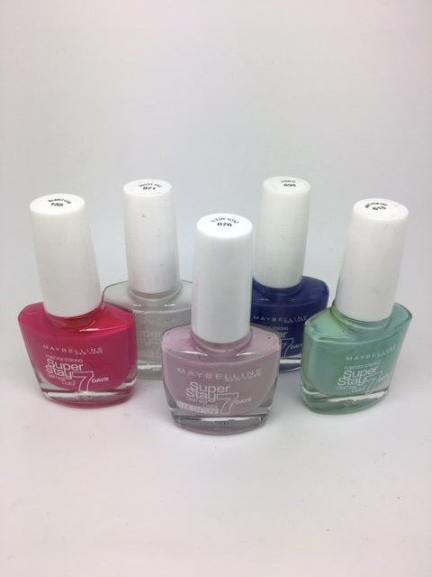 Maybelline Superstay 7 Days Gel Nail Colour, ASSORTED x 24 (£0.50 each)