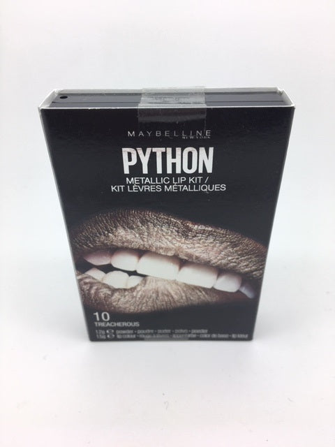 Maybelline Python Metallic Lip Kit, 10 Treacherous x 6 (£1.20 each)