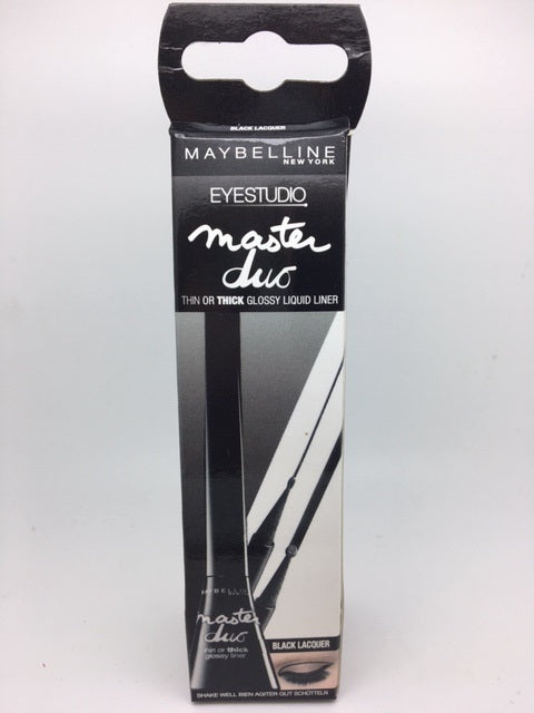 Maybelline Master Duo Thin or Thick Glossy Liquid Liner (boxed), Black Lacquer x 6 (£1.50 each)