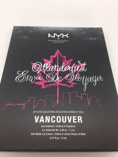 NYX Wanderlust Lip & Eye Collection, Vancouver x 6 (£3.00 each)