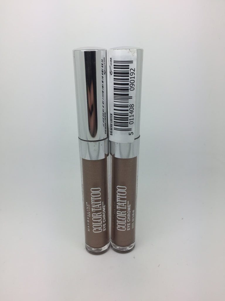 Maybelline Color Tattoo Eye Chrome, 510 Beige Luster x 6 (£1.50 each)