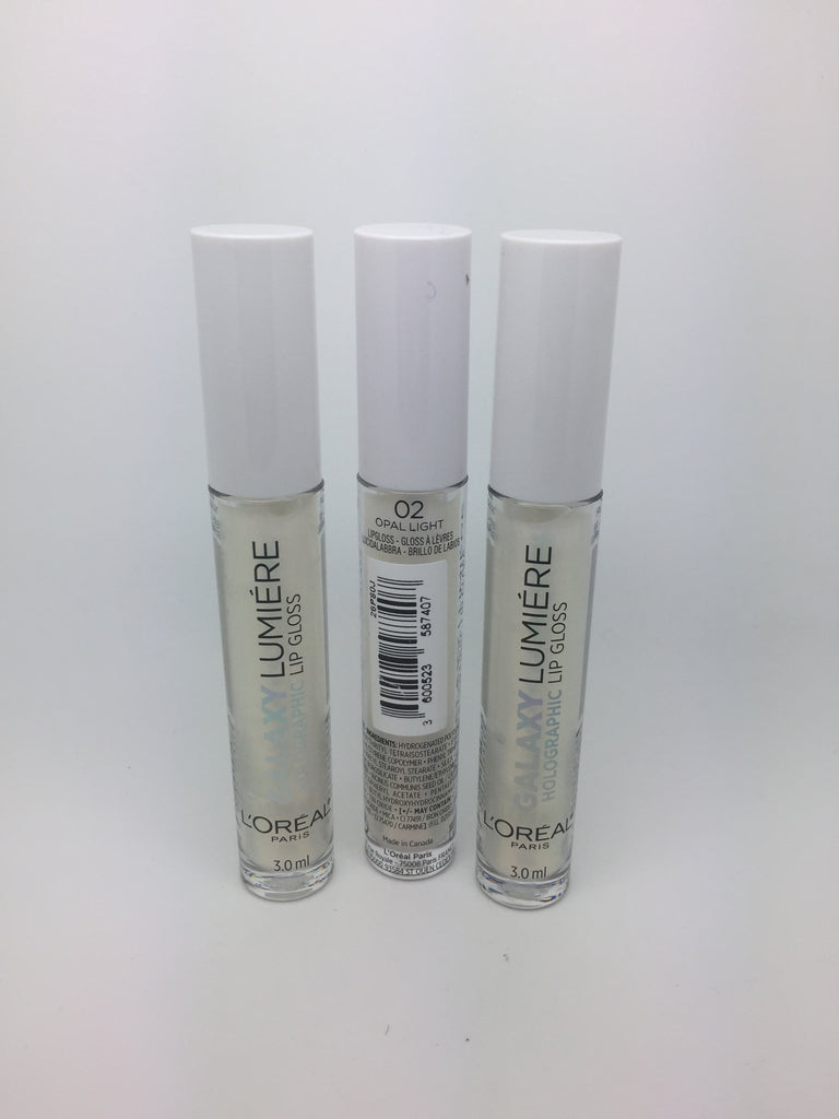 *Clearance* L'oreal Galaxy Lumière Holographic Lip Gloss, 02 Opal Light x 48 (£1.35 each)