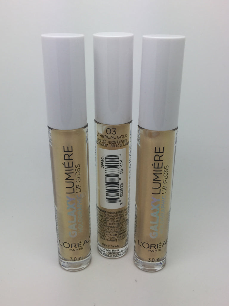 *Clearance* L'oreal Galaxy Lumière Holographic Lip Gloss, 03 Ethereal Gold x 48 (£1.35 each)