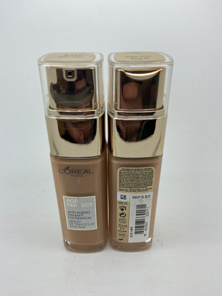 L'oreal Age Perfect Anti-Ageing Radiant Foundation, 270 Beige Amber x 6 (£3.00 each)