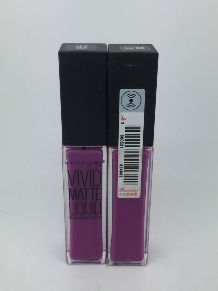 Maybelline Vivid Matte Liquid Lip Gloss, 42 Orchid Shock x 6 (£1.20 each)