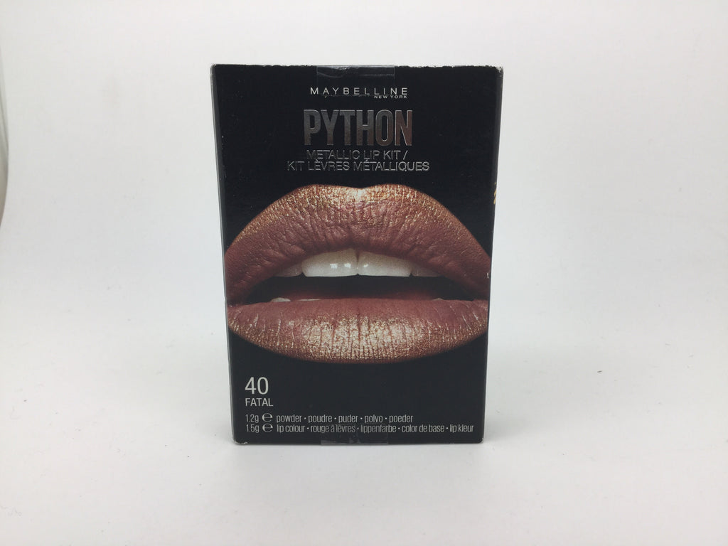 Maybelline Python Metallic Lip Kit, 40 Fatal x 6 (£1.20 each)
