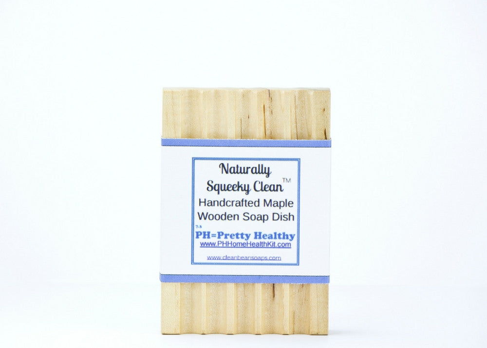 Naturally Squeeky Clean Handcrafted Maple Wooden Soap Dish