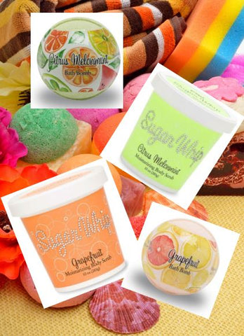Fizzy Bath Bombs & Sudsy 3 in 1 Sugar Whip Sets ~ Long Lasting ~ No Nasty Toxic Chemicals! Save $ and Time!