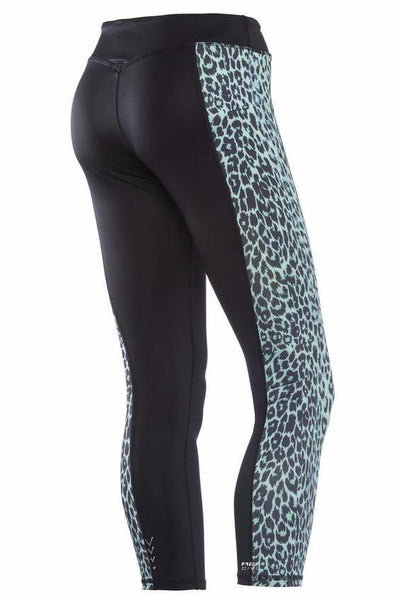 Superfit Ankle Tights Leopard Panel Mint