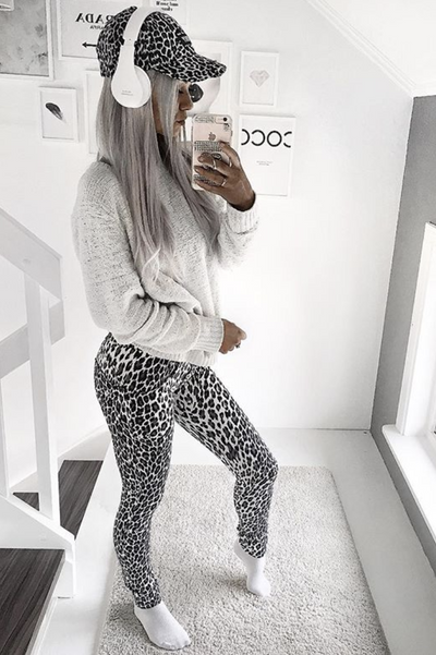 WR.UP® Shaping Pants Skinny Low Snow Leopard