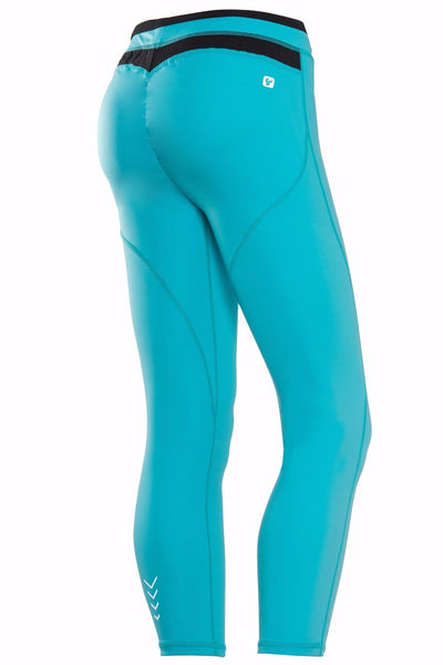 WR.UP® Sport Ankle Tights Turquoise + Black Waist