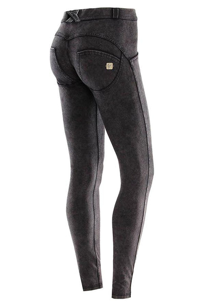 WR.UP® Shaping Pants Skinny Mid Acid Wash Black