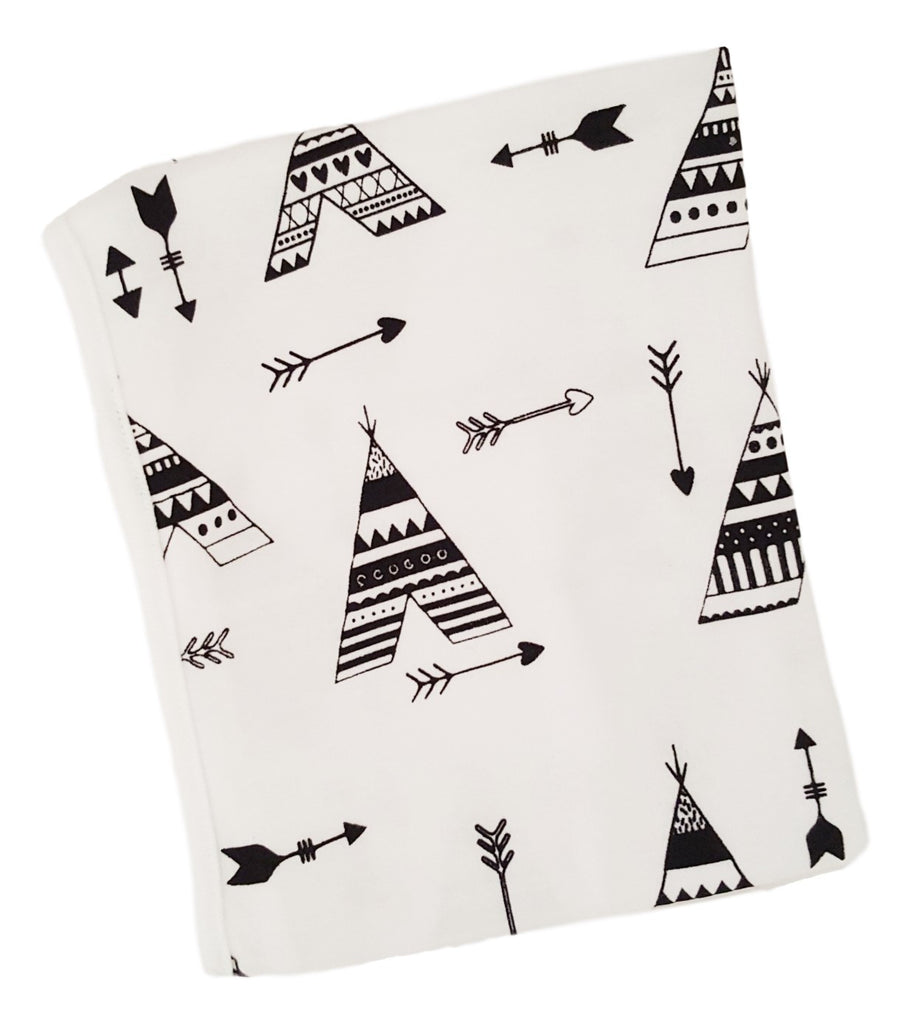 Cotton Knit Blanket- Teepee