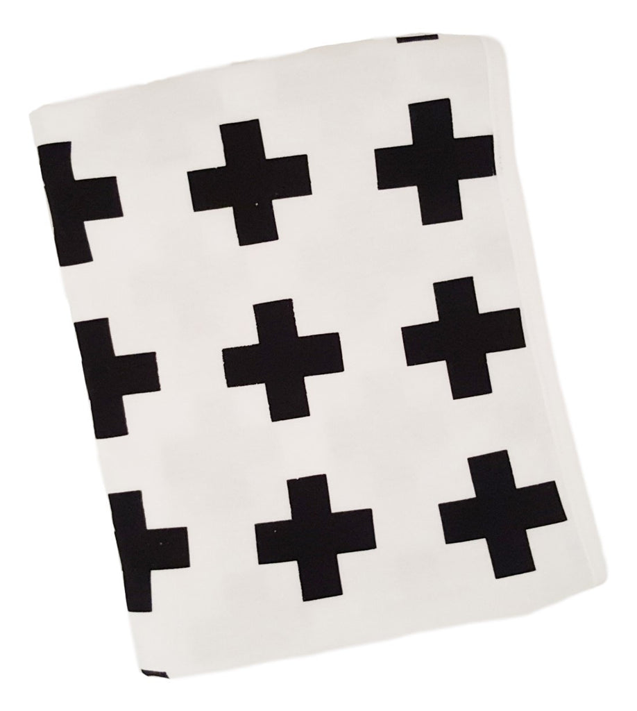 Cotton Knit Blanket- Swiss Cross