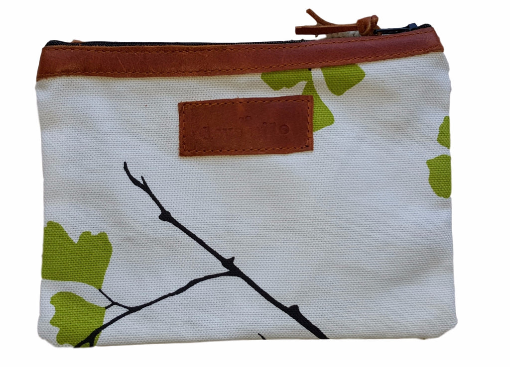 On The Go Purse - Fern/Leather
