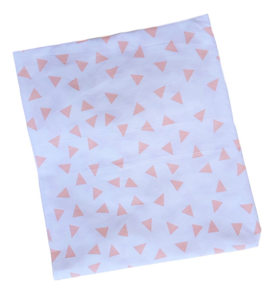 Single & Twin  Fitted sheet - Blush Triangle