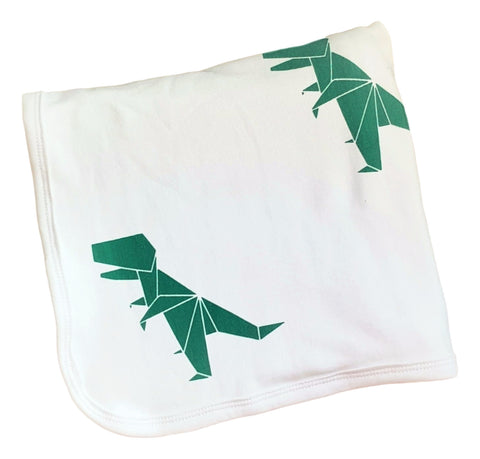 Cotton Knit Blanket- T-REX