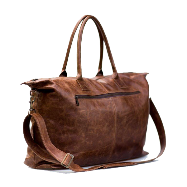 Leather Weekender bag - Brown