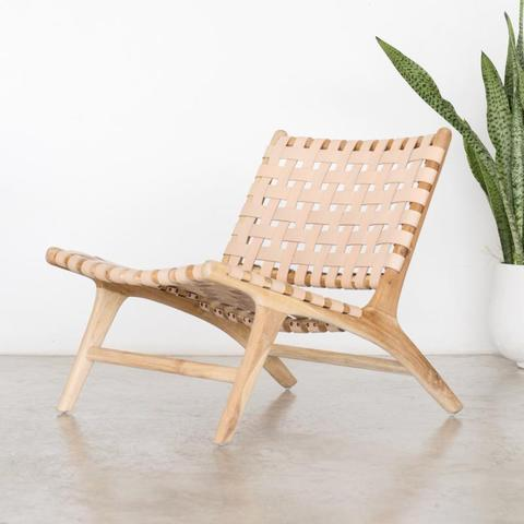 Bali Lounger - Blush - White Moss Collection