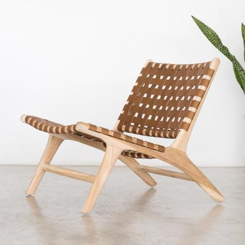 Bali Lounger - Tan - White Moss Collection