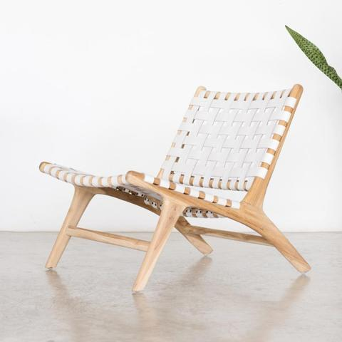 Bali Lounger - White - White Moss Collection